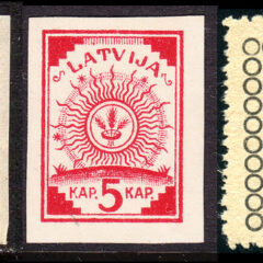 Baltic stamps: number ones
